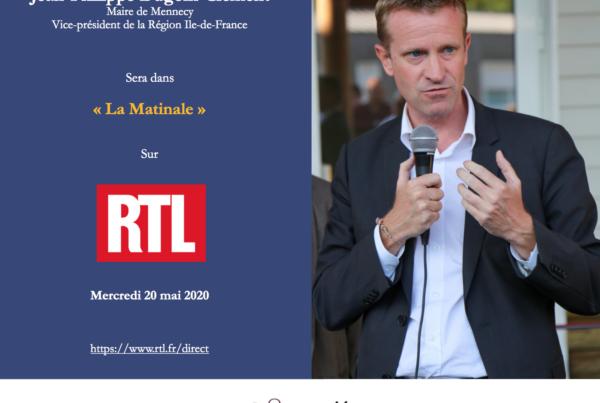 Jean Philippe Dugoin-Clément, le maire de Mennecy sera invité dans la Matinale de RTL