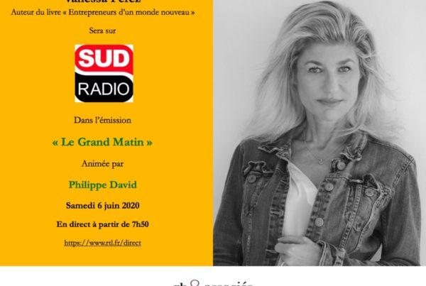 Vanessa Perez sera l'invitée de Philippe David dans Sud Radio