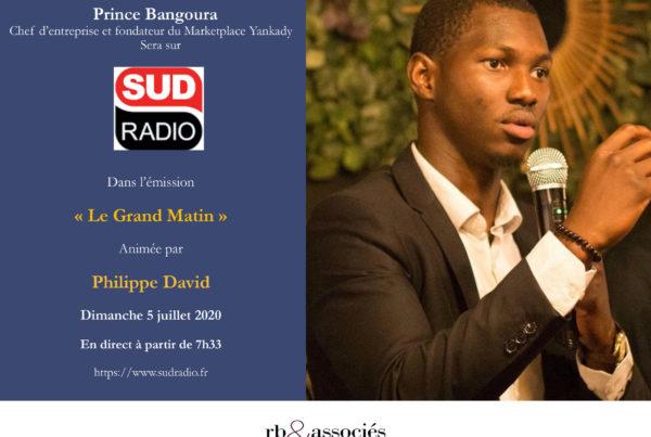 """Prince Bangoura, fondateur de la marketplace Yankady invité dans """"Le Grand Matin"""""""