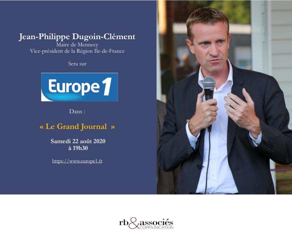 """Invitation Jean-Philippe Dugoin-Clément sur Europe 1 dans """"Le grand journal"""""""