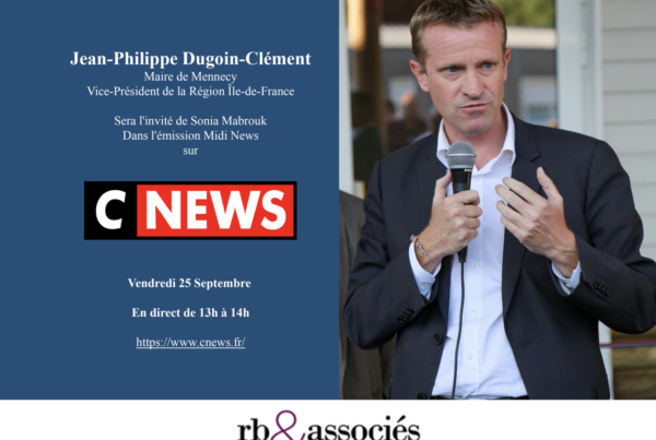 Jean-Philippe Dugoin-Clément sera l'invité de Sonia Mabrouk sur CNews