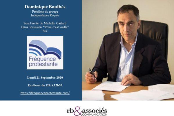 Invitation de Dominique Boulbès dans l'émission « Vivre c'est vieillir » sur Fréquence