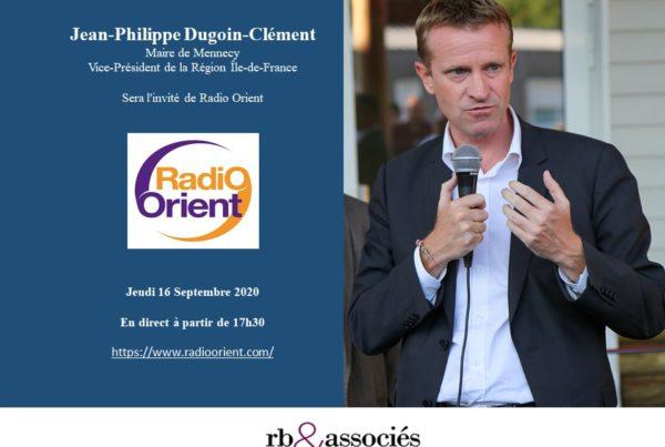 Jean-Philippe Dugoin-Clément, maire de Mennecy était l'invité de Radio Orient