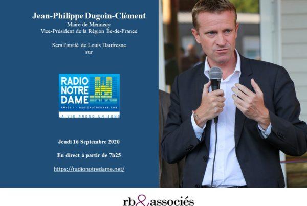 Invitation du maire de Mennecy Jean-Philippe Dugoin-Clément sur Radio Notre-Dame