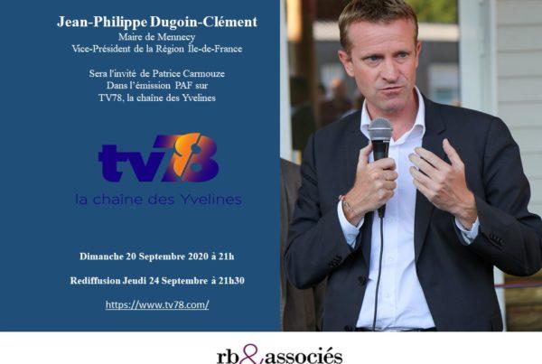 Invitation de Jean-Philippe Dugoin-Clément dans l'émission PAF sur TV78, la chaîne des Yvelines
