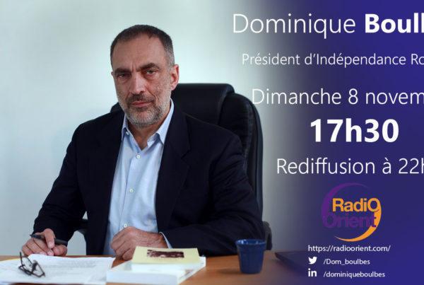 Dominique Boulnès sera l'invité de Radio Orient