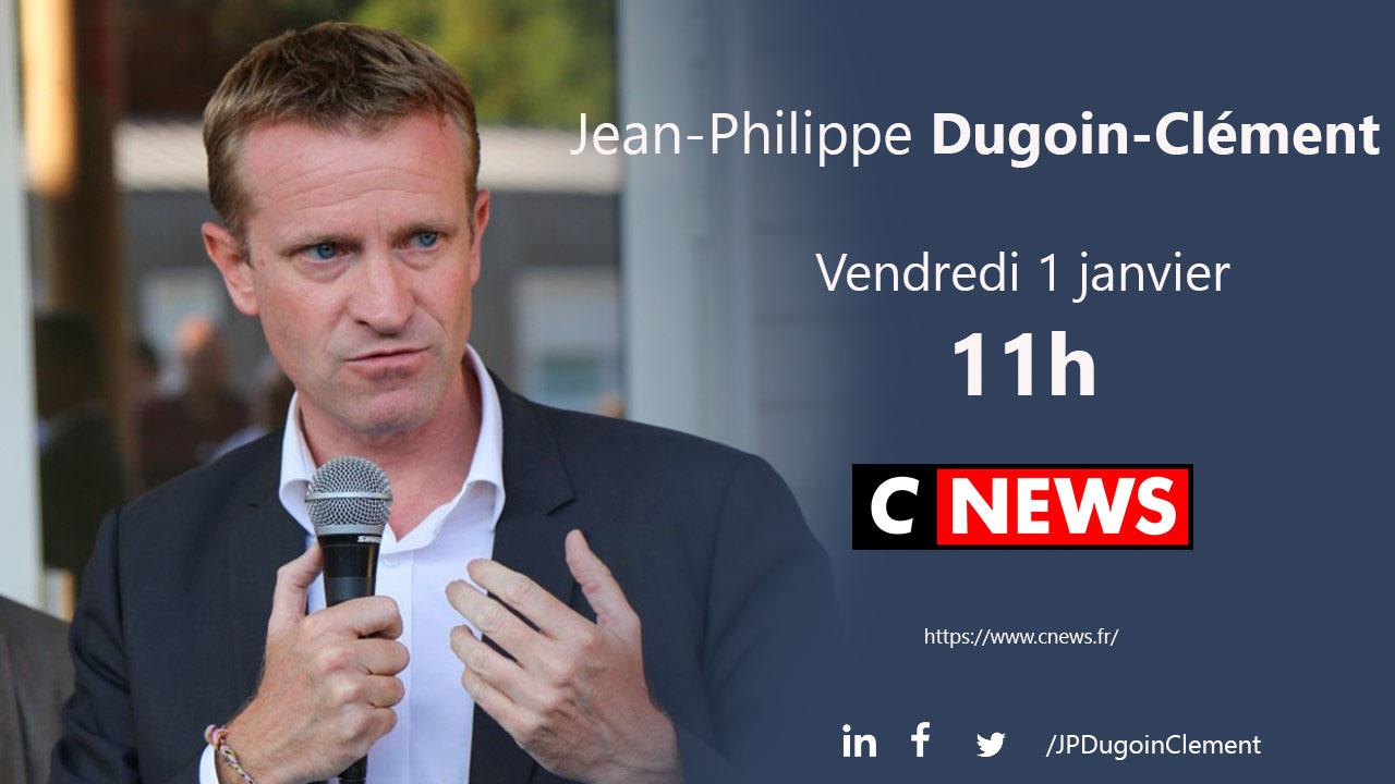 Jean-Philippe Dugoin-Clément sera l'invité de CNEWS